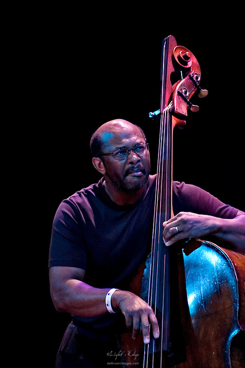 Douglas Mapp performing with the DiBlasio Quartet at the Broadway Theater during the 2010 Pitman Music & Arts Festival.