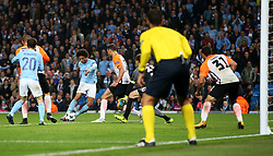 Leroy Sane of Manchester City fires a shot at goal  - Mandatory by-line: Matt McNulty/JMP - 26/09/2017 - FOOTBALL - Etihad Stadium - Manchester, England - Manchester City v Shakhtar Donetsk - UEFA Champions League Group stage - Group F