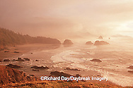 66295-02620 Cannon Beach at sunset, Ecola State Park OR