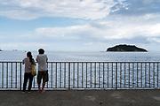 watching Tokyo Bay and Sarushima Island from Umikaze park Yokosuka