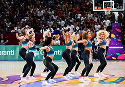 Cheerleaders Red Foxes perform during basketball match between National Teams of Spain and Turkey at Day 11 in Round of 16 of the FIBA EuroBasket 2017 at Sinan Erdem Dome in Istanbul, Turkey on September 10, 2017. Photo by Vid Ponikvar / Sportida