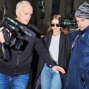 "Supermodel Jelena Noura ""Gigi"" Hadid leaves Manhattan Criminal Court for jury selection in Harvey Weinstein's rape trial, on January 13, 2020 in Manha?ttan, NYC."