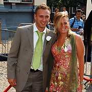 NLD/Groningen/20070609 - Huwelijk Arjen Robben en Bernadien Eillert, Dennis Rommedahl en partner ..Wedding of the dutch Chelsea soccer player Arjen Robben with his girlfriend Bernadien Eillert along with family and friends