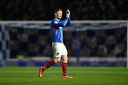 Andy Cannon (14) of Portsmouth applauds the fans as he is substituted during the EFL Sky Bet League 1 match between Portsmouth and Ipswich Town at Fratton Park, Portsmouth, England on 21 December 2019.