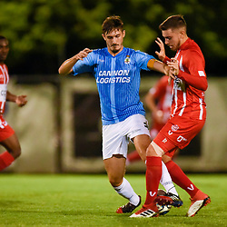 BRISBANE, AUSTRALIA - APRIL 3:  during the FFA Cup Preliminary Round 3 match between Olympic FC and St. George Willawong on April 3, 2018 in Brisbane, Australia. (Photo by Patrick Kearney / Olympic FC)