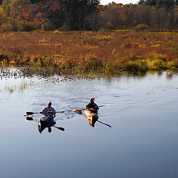 Kayaking in the Ipswich River in Ipswich Massachusetts USA