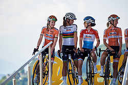 Boels Dolmans sign on at La Course by Le Tour de France 2018, a 112.5 km road race from Annecy to Le Grand Bornand, France on July 17, 2018. Photo by Sean Robinson/velofocus.com