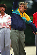 Osterley, Greater london. Gerald LAVAYSSIERE, competing at the Le Piat d'or,  Petanque/Boules Championships held in the grounds of Osterley House West London, England, [Mandatory Credit; Peter Spurrier/Intersport Images] 19870912 Petanque Championships, Osterley, Greater London, UK