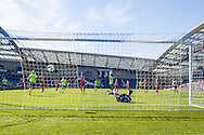 Tomer Hemed scores from the penalty spot during the Pre-Season Friendly match between Brighton and Hove Albion and Sevilla at the American Express Community Stadium, Brighton and Hove, England on 2 August 2015. Photo by Bennett Dean.