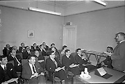 22/02/1963.02/22/1963.22 February 1963.The conclusion of the  inaugural 5-day course in Marketing and Sales Management for Irish executive held by the Sales Advisory Service, 9 Appian Way, Dublin. Picture shows Mr M.H. Coote (right), delivering the concluding lecture of the course. In front row from left are Mr P.L. Kennedy, Mr D.J. McCoy, Mr P.F. MacNab, Mr A. Kelly and Mr J.F. McEvoy.