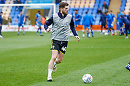 Wimbledon midfielder Anthony Wordsworth (40) warming up  during the EFL Sky Bet League 1 match between Shrewsbury Town and AFC Wimbledon at Greenhous Meadow, Shrewsbury, England on 2 March 2019.