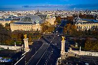 France, Paris (75), les rives de la Seine, classées Patrimoine Mondial de l'UNESCO, le pont Alexandre III,  et le Grand Palais // France, Paris, Alexandre III bridge and the Grand Palais