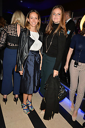 Left to right, LAVINIA BRENNAN and LADY NATASHA RUFUS-ISAACS at a party to celebrate the 1st anniversary of Hello! Fashion Monthly magazine held at Charlie, 15 Berkeley Street, London on 14th October 2015.