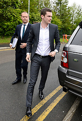 © Licensed to London News Pictures. 18/05/2015. Sunderland and England footballer Adam Jonhson arrives at Peterlee Magistrates court where he is charged with three counts of sexual activity with a child under 16 years and one offence of grooming. Photo credit: Nigel Roddis/LNP
