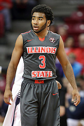 08 November 2015: Keyshawn Evans(3). Illinois State Redbirds host the Southern Indiana Screaming Eagles and beat them 88-81 in an exhibition game at Redbird Arena in Normal Illinois (Photo by Alan Look)
