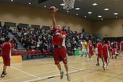 Hayden Allen warming up for the second half of their round 16 game in Hamilton,NBL 2011,Waikato Pistons Vs Otago Nuggets,Hamilton Boys' High,Hamilton.  Saturday 9 July 2011.<br /> Photo: Dion Mellow / photosport.co.nz