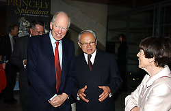 Left to right, LORD ROTHSCHILD, HUBERT BURDA and LADY ROTHSCHILD at the opening of 'Princely Splendour; The Dresden Court 1580-1620' a new temporary exhibition at The Gilbert Collection, Somerset House, London sposored by Hubert Bruda Media, The Schroder Family and WestLB AG on 8th June 2005.<br />