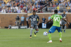 August 4, 2018 - Minneapolis, MN, USA - Minneapolis, MN - Saturday, August 4, 2018: Minnesota United FC played Seattle Sounders FC in a Major League Soccer (MLS) game at TCF Bank stadium. Final score Minnesota United 1, Sounders 2 (Credit Image: © Jeremy Olson/ISIPhotos via ZUMA Wire)