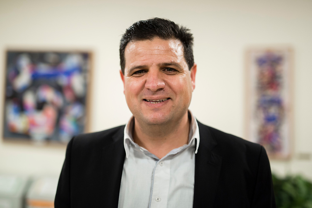 Arab-Israeli lawmaker, Member of the Knesset Ayman Odeh, poses for a portrait at the Knesset, Israel's parliament in Jerusalem, on January 28, 2015.