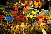Vegetables for sale at farmers market, Venice, Italy..Subject photograph(s) are copyright Edward McCain. All rights are reserved except those specifically granted by Edward McCain in writing prior to publication...McCain Photography.211 S 4th Avenue.Tucson, AZ 85701-2103.(520) 623-1998.mobile: (520) 990-0999.fax: (520) 623-1190.http://www.mccainphoto.com.edward@mccainphoto.com....