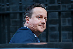 © Licensed to London News Pictures. 24/02/2016. London, UK. Prime Minister David Cameron leaving Downing Street to attend Prime Minister's Question Time in London on 24 February 2016. Photo credit: Tolga Akmen/LNP