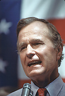 George H W. Bush at the Republican Convention in Dallas, Texas  on August 20-23rd in 1984.  Photograph by Dennis Brack  BSB 17