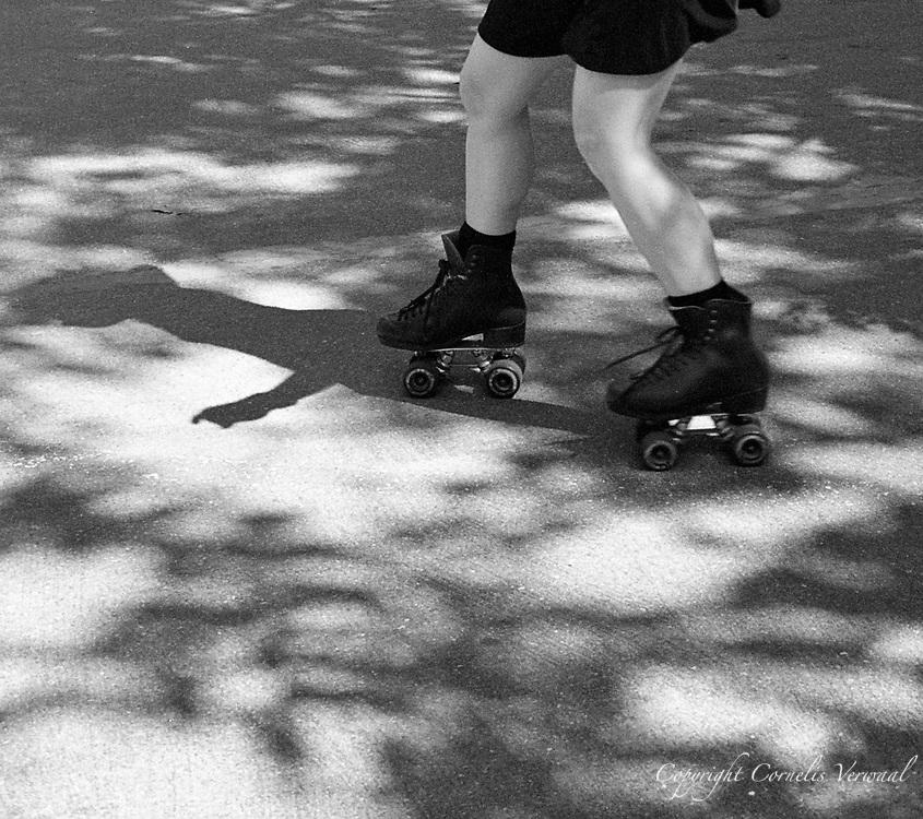 Roller disco in Central Park, New York, 2007.