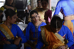 September 2, 2017 - Bangkok, Bangkok, Thailand - Hindu dancers waiting perform during for the Hindu God Lord Ganesh as they take part in the Ganesha Festival in Bangkok, Thailand on September 2, 2017. (Credit Image: © Anusak Laowilas/NurPhoto via ZUMA Press)