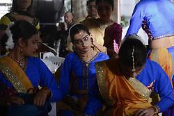 September 2, 2017 - Bangkok, Bangkok, Thailand - Hindu dancers waiting perform during for the Hindu God Lord Ganesh as they take part in the Ganesha Festival in Bangkok, Thailand on September 2, 2017. (Credit Image: © Anusak Laowilas/NurPhoto via ZUMA Press)