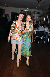 Left to right, ISOBEL BUCHANAN-JARDINE and LADY SYBILLA RUFUS-ISAACS at a night of Cuban Cocktails and Cabaret hosted by Edward Taylor and Charles Beamish at Floridita, 100 Wardour Street, London W1 on 14th April 2005.<br /><br />NON EXCLUSIVE - WORLD RIGHTS