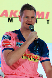March 22, 2019 - Jaipur, Rajasthan, India - Rajasthan Royals player Steve Smith addressing the media person during the team jersey unveiled ceremony ahead the IPL 2019 matches  in Jaipur, Rajasthan, India  on March 22,2019. (Credit Image: © Vishal Bhatnagar/NurPhoto via ZUMA Press)