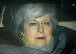 © Licensed to London News Pictures. 13/03/2019. London, UK. British Prime Minister THERESA MAY its seen arriving at the Houses of Parliament, the day after MPs voted to reject the PMs Brexit deal. Parliament Voted by a majority of 149 against the Prime Ministers deal, with a new vote on 'No Deal' being held this evening. Photo credit: Ben Cawthra/LNP