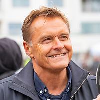 Dag Otto Lauritsen før starten i Lyngdal av Tour of Norway sykkelritt etappe 2: Lyngdal - Kristiansand.