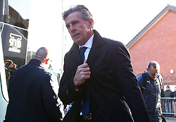 Leicester City manager Claude Puel arrives for the FA Cup, third round match at Highbury Stadium, Fleetwood