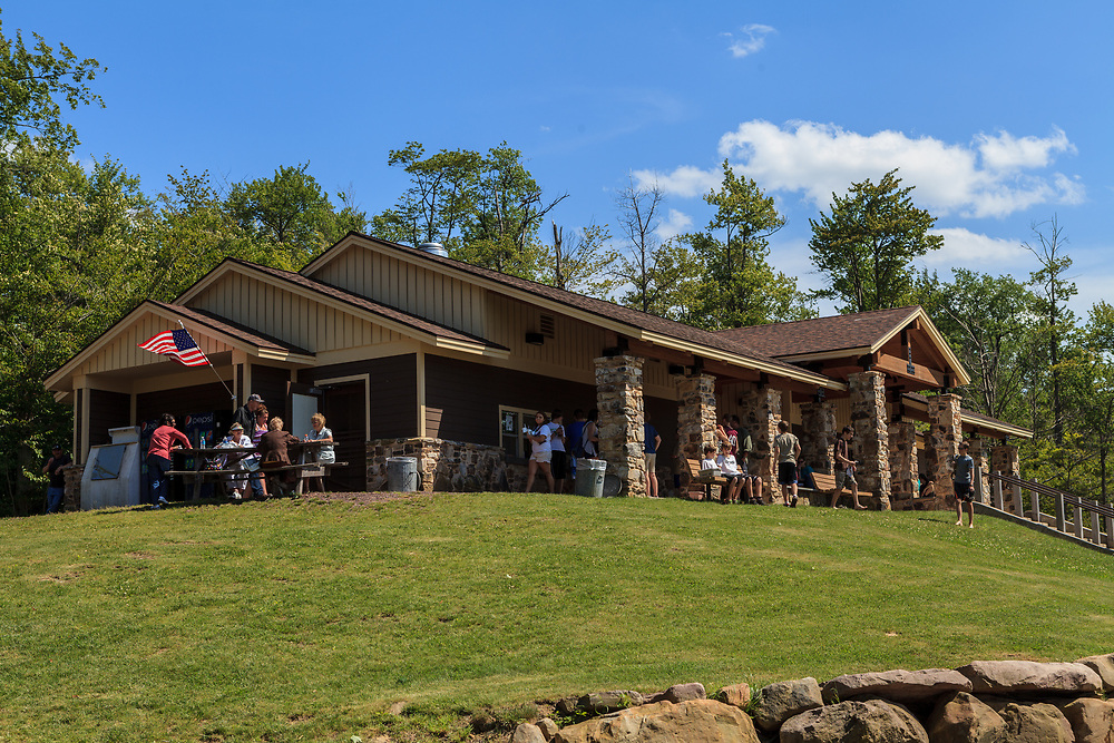 Benton, PA, USA - June 15, 2013: Concession building in Pennsylvania's Ricketts Glen State Park.