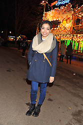 DIONNE BROMFIELD at the opening of the 2012 Winter Wonderland, Hyde Park on 22nd November 2012.