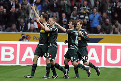 28-03-2010 VOETBAL: BORUSSIA MONSCHENGLADBACH - HSV: MOENSCHENGLADBACH<br /> Roel Brouwer (links) scoort de 1-0 <br /> ©2010- FRH-nph / Mueller