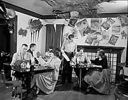 Y-541006B-1. Poncho's Restaurant interior October 5, 1954 (3390 NE Sandy)