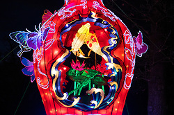 © Licensed to London News Pictures. 18/01/2017. London, UK. A lantern on display at he Chiswick House Magic Lantern Festival. The Festival is a fusion of art, heritage and culture. Illuminating outdoor installations of beautifully sculpted lanterns taking various forms. Opening tomorrow and running until February 26th 2017 the theme for this year's festival is: 'Explore The Silk Road'. Visitors will discover life-sized and oversized lantern scenes, which represent and highlight this significant route of trade and culture from Europe to Ancient China.Photo credit: Peter Macdiarmid/LNP