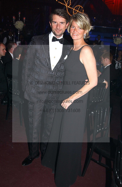 LADY BRUCE DUNDAS and COUNT MANFREDIE DELLA GHERARDESCA at the Russian Rhapsody Gala dinner concert held at The Royal Albert Hall, London on 11th April 2005.  <br /><br />NON EXCLUSIVE - WORLD RIGHTS