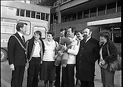 24/02/1979.02/24/1979.24th February 1979. The Lord Mayor of Cork, Cllr Brian Sloane at Dublin Airport to welcome home the group of 15 walkers who set off from Cork on December 29th. They participated in a 54 day walk to Rome in aid of charity. Pictured are Fergus Dynan, Mrs Anne Skally, Drew Skally, leader of the group, Finbar Crowley, Anne Harrison, Michael Fingleton, Chairman, Concern, and Miss Angie Murphy.