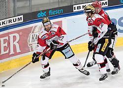 08.07.2016, Tiroler Wasserkraft Arena, Innsbruck, AUT, EBEL, HC TWK Innsbruck Die Haie vs HC Orli Znojmo, 8. Runde, im Bild Teddy Da Costa (Znojmo), Michal Vodny (Znojmo) // during the Erste Bank Icehockey League 8th Round match between HC TWK Innsbruck Die Haie and HC Orli Znojmo at the Tiroler Wasserkraft Arena in Innsbruck, Austria on 2016/10/08. EXPA Pictures © 2016, PhotoCredit: EXPA/ Johann Groder