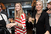 CARA DELEVIGNE; KIT WILLOW, Willow launch.  The Riding House Cafe, Great Titchfield St. London. 22 June 2011. <br /> <br />  , -DO NOT ARCHIVE-© Copyright Photograph by Dafydd Jones. 248 Clapham Rd. London SW9 0PZ. Tel 0207 820 0771. www.dafjones.com.