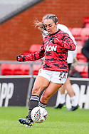 Manchester United midfielder Katie Zelem (10) during the FA Women's Super League match between Manchester United Women and Reading LFC at Leigh Sports Village, Leigh, United Kingdom on 7 February 2021.