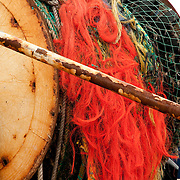 Fishing neets on a reel, Gloucester, MA