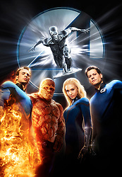 RELEASE DATE: June 15, 2007. STUDIO: Marvel Enterprises/Twentieth Century Fox. PLOT: The Fantastic Four learn that they aren't the only super-powered beings in the universe when they square off against the powerful Silver Surfer and the planet-eating Galactus. PICTURED: Composite art for the movie poster featuring (L-R) CHRIS EVANS, MICHAEL CHIKLIS, JESSICA ALBA, and IOAN GRUFFUDD. (Credit Image: © Entertainment Pictures/Entertainment Pictures/ZUMAPRESS.com)