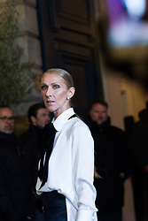 Canadian singer, Celine Dion, arrives for the Armani show as part of Paris Haute Couture Fashion Week Spring/Summer 2019-2020 on January 22, 2019, in Paris, France. Photo by Julie Sebadelha/ABACAPRESS.COM