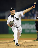 CHICAGO - APRIL 18:  Carlos Rodon #55 of the Chicago White Sox pitches against the Los Angeles Angels of Anaheim on April 18, 2016 at U.S. Cellular Field in Chicago, Illinois.  The Angels defeated the White Sox 7-0.  (Photo by Ron Vesely)    Subject:  Carlos Rodon