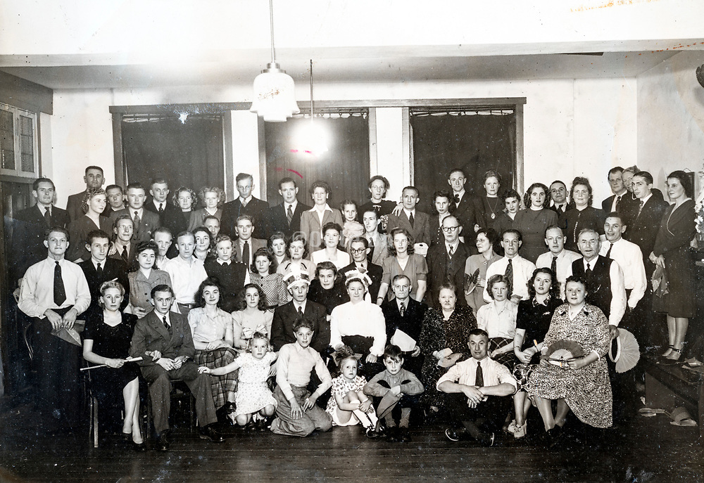 large group photo Holland 1950s