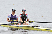 Hazewinkel, BELGIUM,  Women's Pair. GBR W2- Bow [left] Jess EDDIE and Alison KNOWLES, at the start of their race in the Sunday Afternoon Semi Finals at the British Rowing Senior Trails, Bloso Rowing Centre. Sunday,  11/04/2010. [Mandatory Credit. Peter Spurrier/Intersport Images]